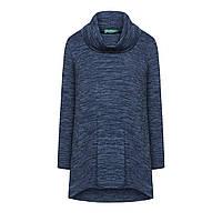 Трикотажный джемпер, цвет серо-синий меланж
