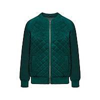 Утепленная куртка из экозамши, цвет «темный изумруд», фото 1