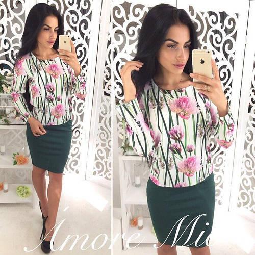 ea1bd067f953 Костюм женский модный кофта с длинным рукавом и юбка карандаш