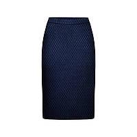 Юбка из жаккарда, цвет темно-синий, фото 1