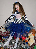 """Детский нарядный костюм с пышной юбкой 026 """"Сердце"""" в расцветках"""