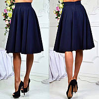 """Стильная женская юбка средней длины 074 """"Креп Клёш Миди"""" в расцветках"""