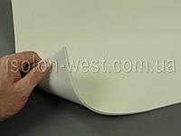 Ткань оригинальная потолочная  кремовая (Германия), велюр на поролоне с сеткой шир. 1.32м