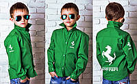 """Детская подростковая стильная рубашка 828 """"Ferrari"""""""