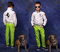 """Детские подростковые стильные брюки + пояс 868 """"Лён Модельные"""" в расцветках"""
