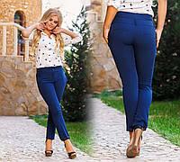 """Стильные женские летние брюки до больших размеров """"Тиар Подворот"""" в расцветках"""