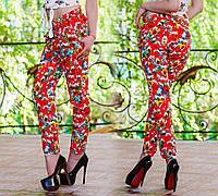"""Летние женские штаны """"Штапель Цветы"""""""