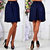 """Женская стильная короткая юбка 107 """"Трикотаж Кармашки Бант"""" в расцветках"""