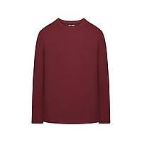 Трикотажная футболка с длинными рукавами для мужчины, цвет пурпурный