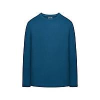 Трикотажная футболка с длинными рукавами для мужчины, цвет темно-бирюзовый, фото 1