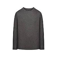 Трикотажная футболка с длинными рукавами для мужчины, цвет темно-серый меланж