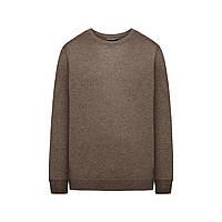 В'язаний джемпер для чоловіка, колір коричневий меланж, фото 1