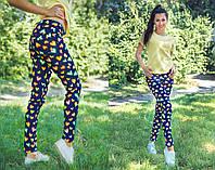"""Летние лёгкие женские джинсы 0255 """"Сердечки"""""""