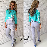 Женский красивый спортивный двухцветный костюм: кофта и штаны (4 цвета)