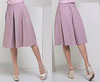 """Элегантная женская юбка средней длины 5264 """"Клёш Складки Миди"""" в расцветках"""