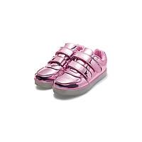 Кроссовки со светодиодами для девочек, розовые, фото 1