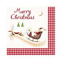 "Салфетка для декупажа ""Merry Christmas"", 33*33 см"