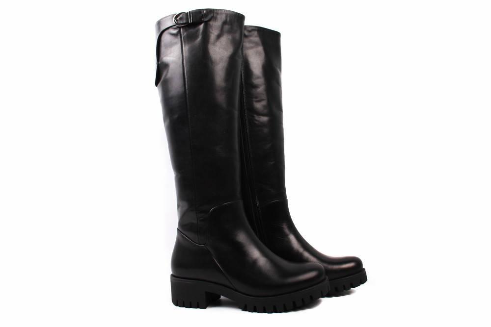 Сапоги женские Szydlowski натуральная кожа, цвет черный (каблук, зима,  Польша) 9841cf39dc3