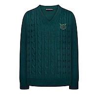 Вязаный джемпер для мальчика, цвет темно-зеленый, фото 1