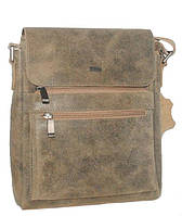 Мужская кожаная сумка Vesson 4343 хаки, фото 1