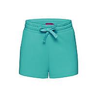 Трикотажные шорты для девочки, цвет ментоловый