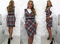 """Стильное женское платье-сарафан в больших размерах 075 """"Ласточка"""""""