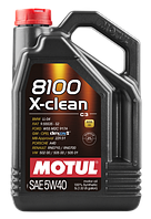 Моторное масло Motul 5W-40 8100 X-Clean 5л