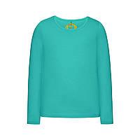 Трикотажная футболка для девочки, цвет ментоловый, фото 1