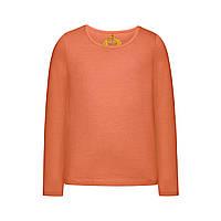 Трикотажная футболка для девочки, цвет коралловый