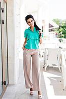 Женская красивая блуза с рюшами (3 цвета)