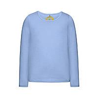 Трикотажная футболка для девочки, цвет светло-голубой