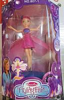 Кукла Летающая Фея 807-1, кукла фея с крыльями летающая, кукла для девочки, игрушка фея