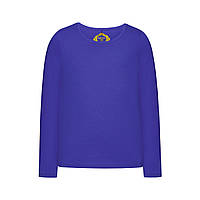Трикотажная футболка для девочки, цвет ярко-синий