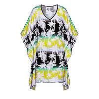 Трикотажное платье с набивным рисунком, мультицвет, фото 1