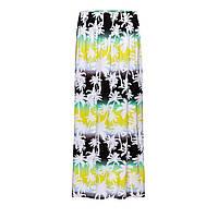Удлиненная трикотажная юбка с набивным рисунком, мультицвет, фото 1