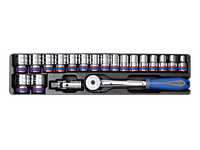"Головки (комплект) 1/2"", 20 пр., 10-32 мм, в ложементе 6 гр. KINGTONY 9-4319MR01"