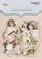 Высечки Shabby Winter, 41 шт