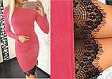 Женское платье с кружевом, разные цвета, фото 2
