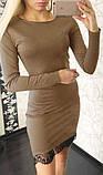 Женское платье с кружевом, разные цвета, фото 6