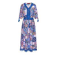 Удлиненное платье, цвет мультиколор, фото 1