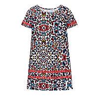 Трикотажное платье для девочки, цвет мультиколор, фото 1