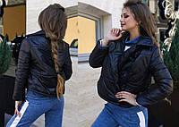 """Женская стильная куртка на синтепоне демисезон 01483 """"Плащёвка Топ Кнопки"""" в расцветках"""