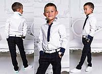 """Детская стильная рубашка для мальчиков 920 """"Коттон Галстук Контраст"""""""
