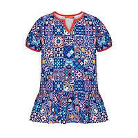 Трикотажная туника для девочки, цвет мультиколор, фото 1