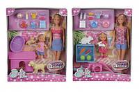 Кукольный набор Штеффи и Эви со зверушками Steffi & Evi 5732156