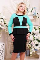 Трикотажное платье большого размера АЛЕША ТМ Lenida 52-60 размеры