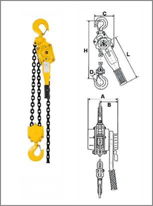 Таль цепная рычажная Haklift типа VTA 1.6/1500