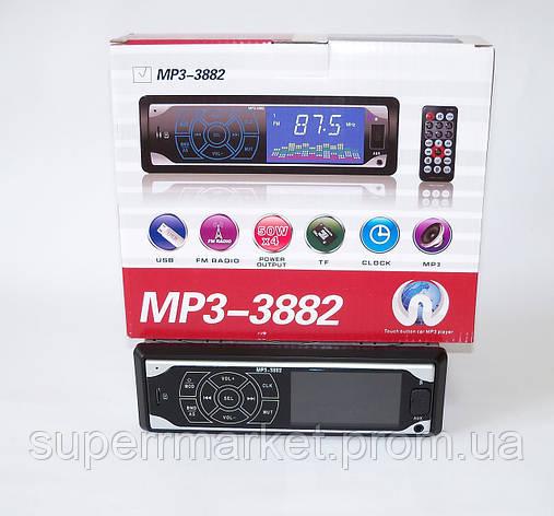 Автомагнитола MP3-3882 с сенсорным дисплеем, FM MP3 USB micriSD TF  AUX ISO, фото 2