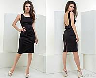 """Элегантное коктейльное женское платье 5290 """"Миди Спина Бант"""" в расцветках"""