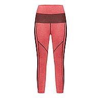 Леггинсы спортивные, цвет розовый с черным, фото 1
